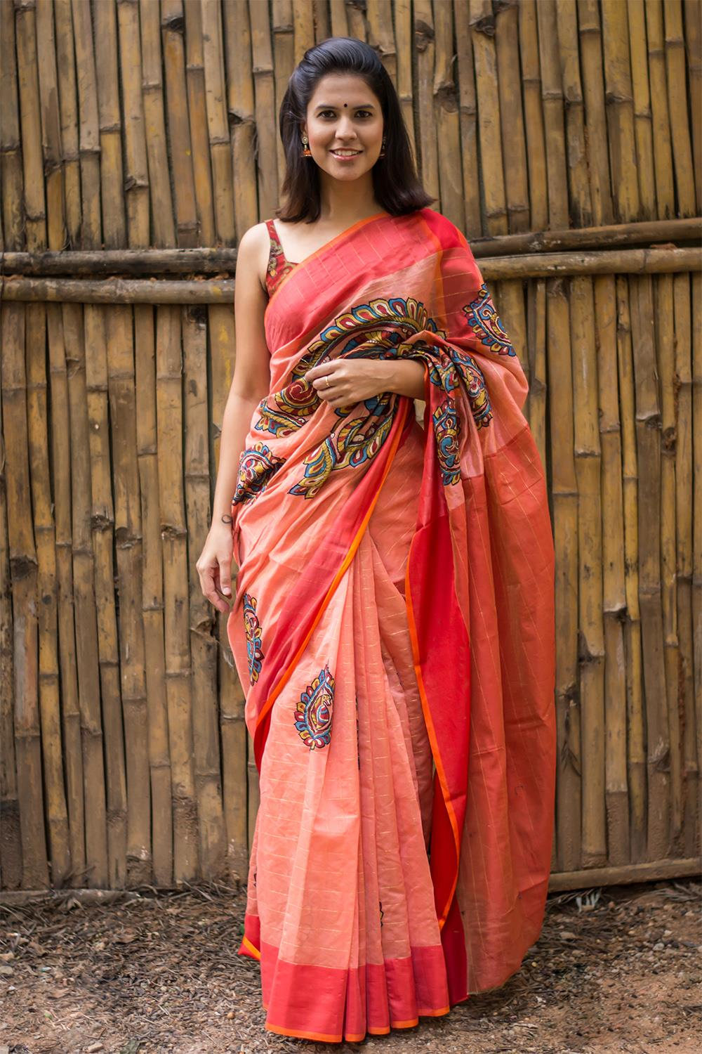 Elegant And Classy Kalamkari Sarees By House Of Blouse