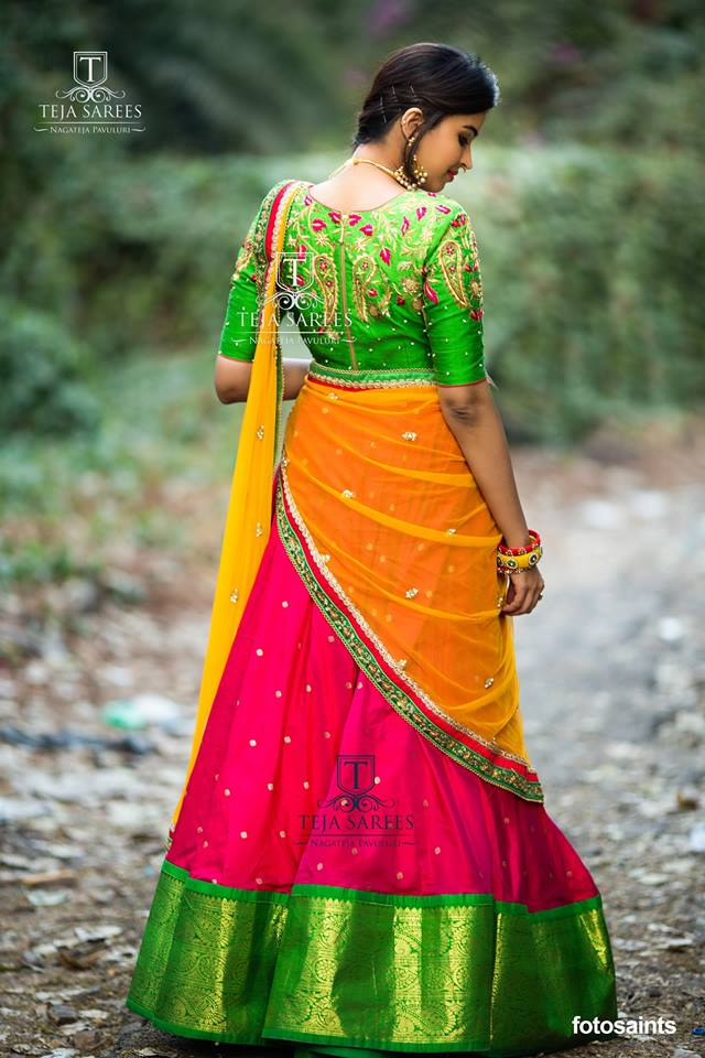 14750db20c5d2 Beautiful Lehenga for all the Brides and the Bridesmaids by Teja Sarees