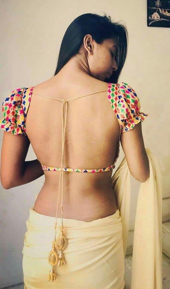 Back Less blouse Design