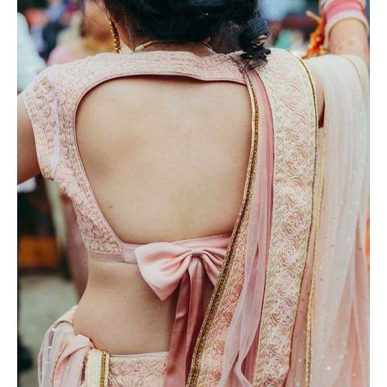 Bow back blouse
