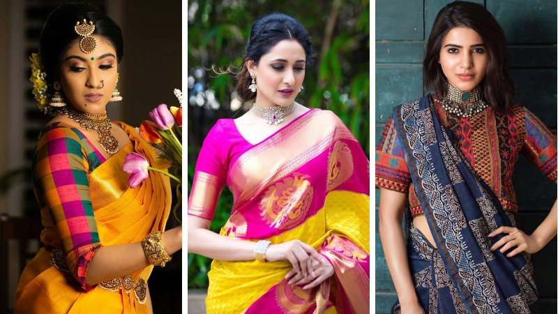 How To Mix and Match Blouse With Your Sarees