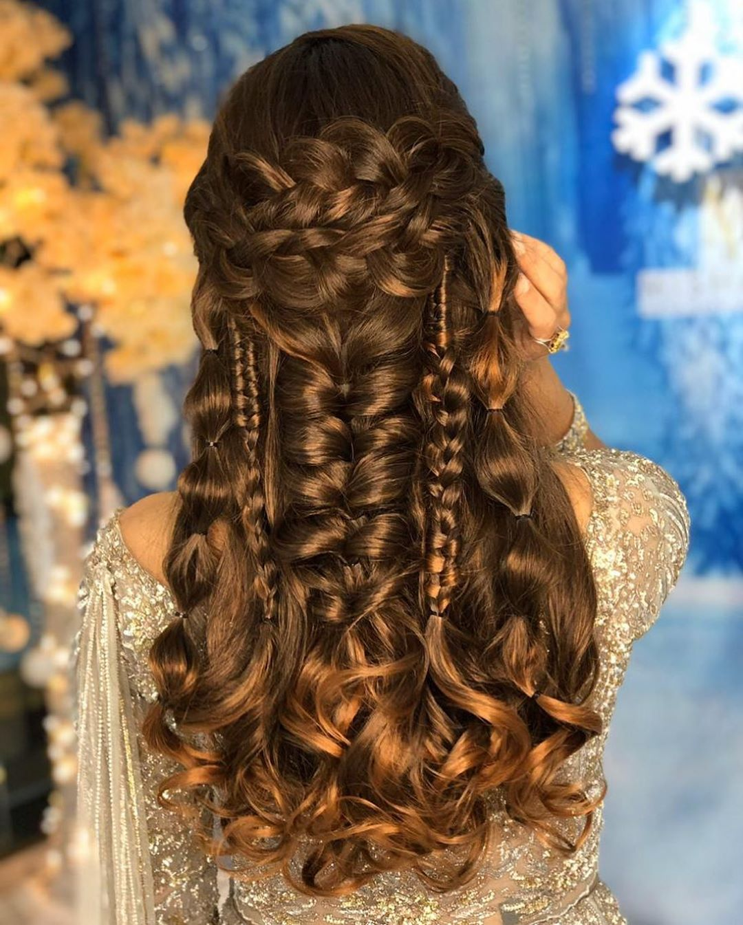 The Right Hairstyle For Your Wedding: Best Hairstyle For A Wedding, Mehndi And Haldi With Floral