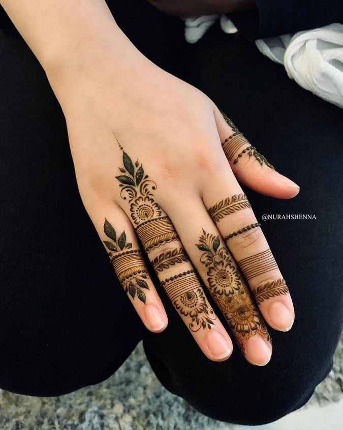 finger mehndi design simple and easy
